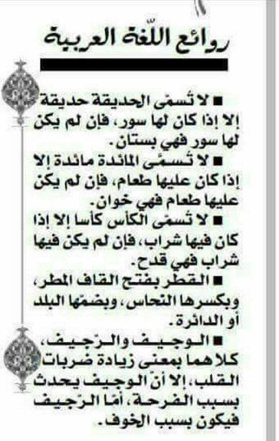 صورة من روائع اللغة العربية , اجمل ما في اللغة العربية 2508