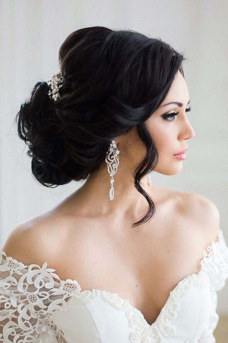 تسريحات شعر للعروس , اجمل التسريحات الجديدة للعرائس