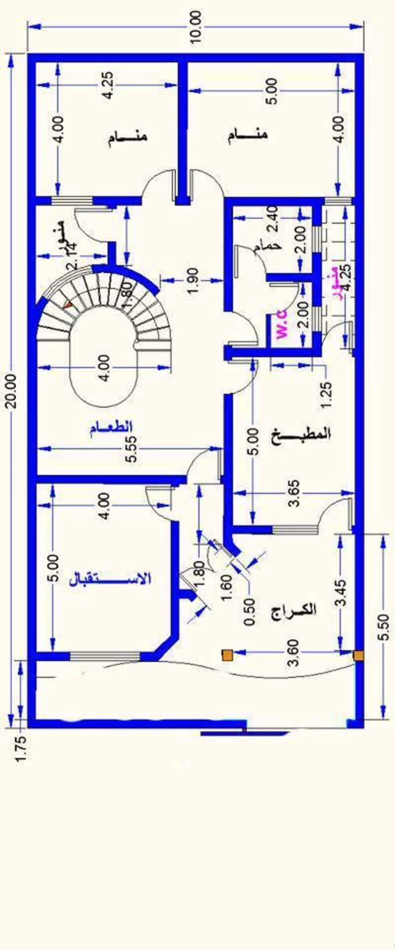 صور خرائط بيوت 100 متر , استغلال مساحه ١٠٠ متر بذكاء