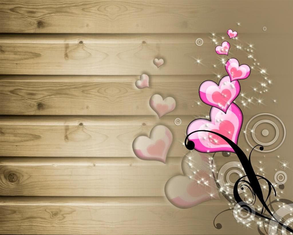 قلوب باللون البمبى الجميل