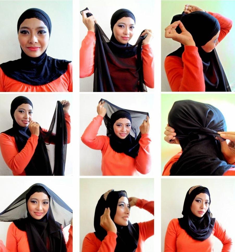 صورة طرق جديده للف الطرح , اجمل واجدد لفات الحجاب للبنات