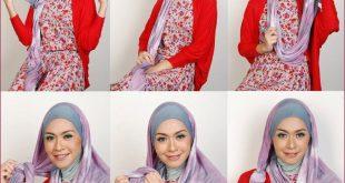 طرق جديده للف الطرح , اجمل واجدد لفات الحجاب للبنات