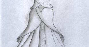 صور كيفية رسم فستان سندريلا , اسهل الطرق لتعلم الرسم