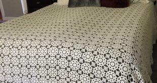 صورة مفارش السرير بالكروشي , الكروشيه وجماله مع مفارش السرير