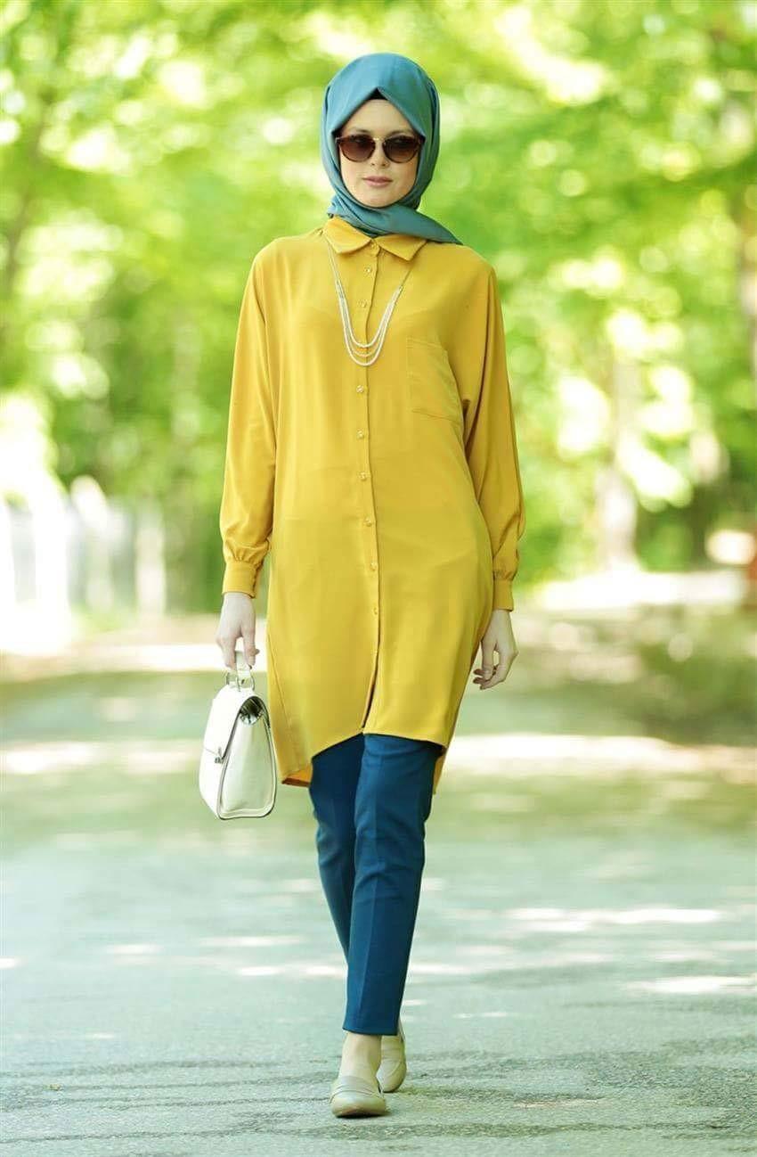 صورة احدث موديلات القمصان النسائية للمحجبات , اجمل واجدد تشكيلات لملابس النساء