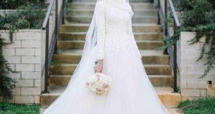 صور فساتين زفاف محجبات , اجمل فساتين ليله العمر للمحجبات