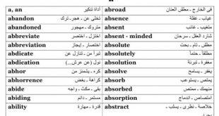 كلمات اللغة الانجليزية , اللغه الانجليزيه وكلمات وحروف منها