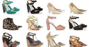 صورة احذية بنات على الموضة , تشكيله احذيه بناتي