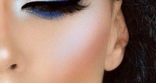 مكياج عيون ازرق , اجمل مكياج للعيون