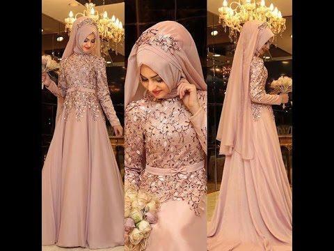 بالصور فساتين حنة للمحجبات , اروع واجمل الفساتين البسيطة 108 3