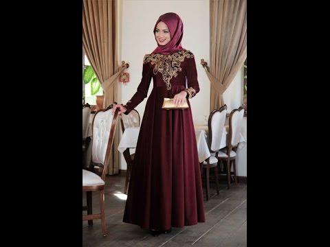 بالصور فساتين حنة للمحجبات , اروع واجمل الفساتين البسيطة 108 5