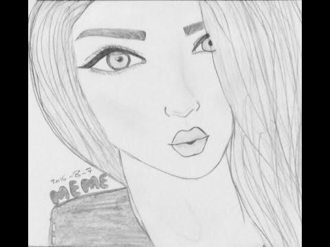 صور تعليم رسم فتاة , اروع الطرق لرسم الفتيات