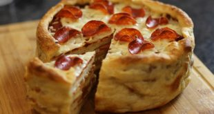 صورة طريقة عمل كيكة البيتزا , البيتزا السحريه فى دقايق
