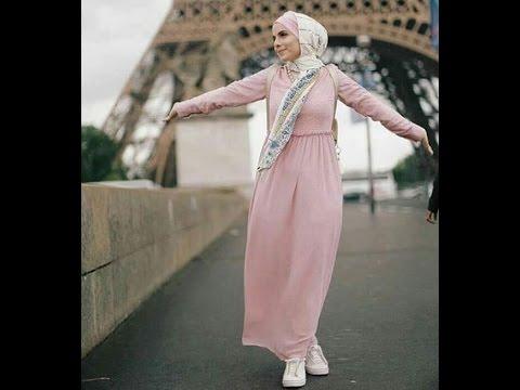 بالصور كيفية خياطة فستان طويل للمحجبات , اروع واجمل التفصيلات الرقيقة 257 1