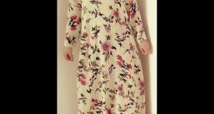 صورة كيفية خياطة فستان طويل للمحجبات , اروع واجمل التفصيلات الرقيقة