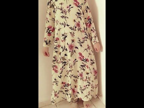 بالصور كيفية خياطة فستان طويل للمحجبات , اروع واجمل التفصيلات الرقيقة 257