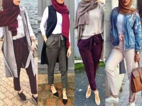 صورة ملابس بنات محجبات 2019 , اروع واجمل الملابس الجميلة