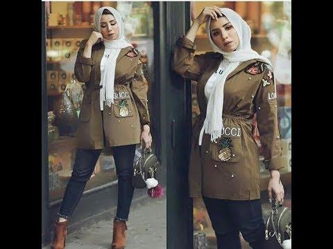 صورة ملابس بنات محجبات 2019 , اروع واجمل الملابس الجميلة 55 2