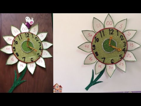 صورة طريقة عمل ساعة تعليمية للاطفال , اسهل طريقه لتعليم الاطفال الوقت والساعه
