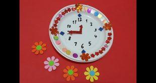 طريقة عمل ساعة تعليمية للاطفال , اسهل طريقه لتعليم الاطفال الوقت والساعه