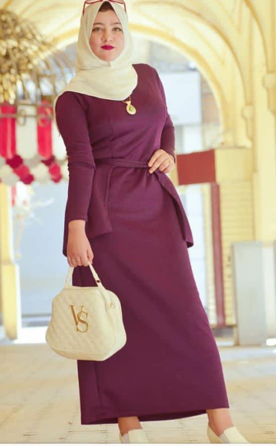 صورة فساتين محجبات تفصيل , افضل انواع الفساتين للمحجبين