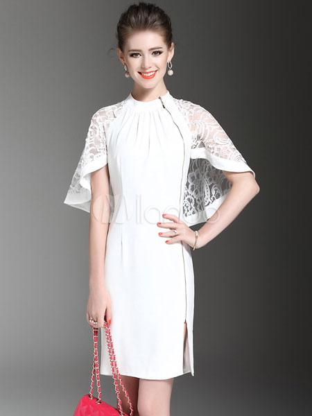 صورة فساتين بيضاء قصيرة , تالقي باحلى الفساتين القصيره التى تكون باللون الابيض