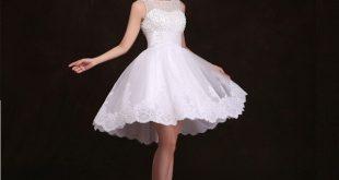 صور فساتين بيضاء قصيرة , تالقي باحلى الفساتين القصيره التى تكون باللون الابيض