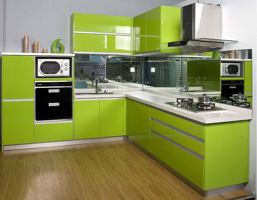 صور صور مطابخ لون رمادي , اجمل الوان مطبخ متداخله بين الرمادي و لون اخر