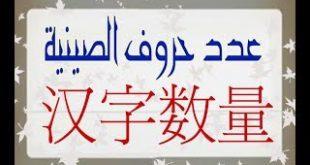 صورة الحروف الصينية ومعناها بالعربي , مقارنة بين الحروف العربية والصينية