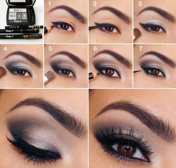 صورة طريقة عمل مكياج العيون الخليجي بالصور , اجمل مكياج عيون جذابه خليجيه رؤعه