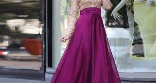 صور فساتين سهرة للمراهقات محتشمة , اجمل موديل فستان مناسب
