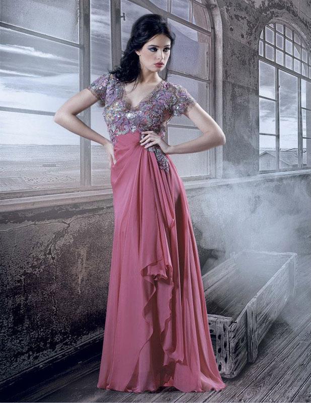 صورة فساتين سهرة جدة , قمه الروعه فى تصميمات لفساتين سهره جامده