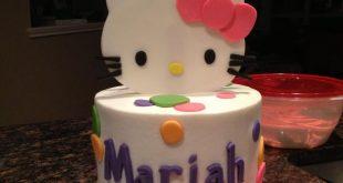 صورة كيكة هيلو كيتي , عيد ميلاد بنتي احلي عيد
