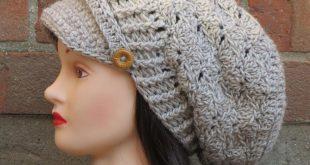 صورة طاقية كروشيه بالباترون للاطفال , من اجمل القبعات