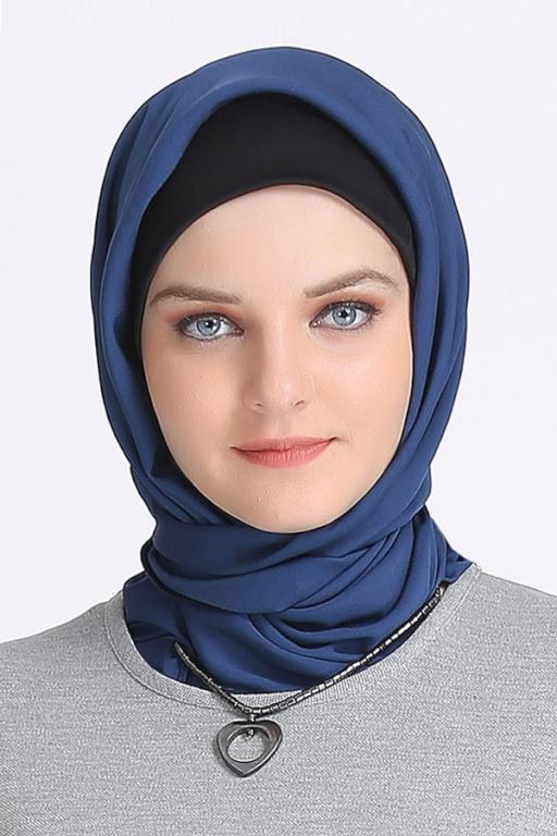 صورة لفات حجاب للوجه الدائري الممتلئ , نحتاجها جدا لكي نعرف