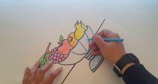 صورة رسم سلة فواكه , هو فن من الداخل