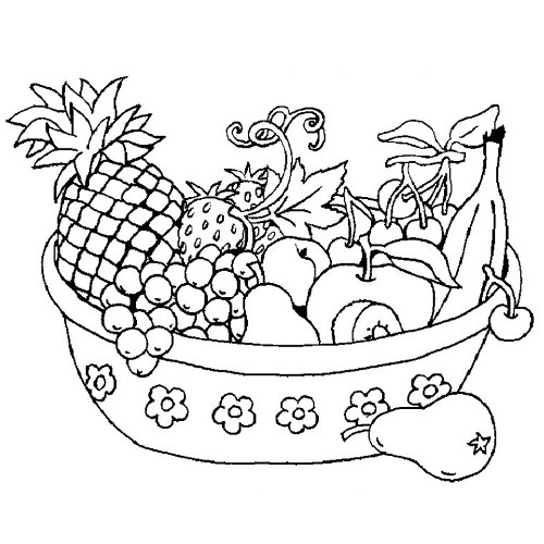 رسومات للتلوين فواكه إقرأ 7