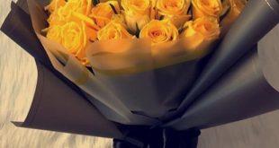 صورة بوكيه ورد اصفر , اجمل هديه ف الحب