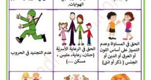 صورة عبارات عن حقوق الطفل , واجبات و حقوق