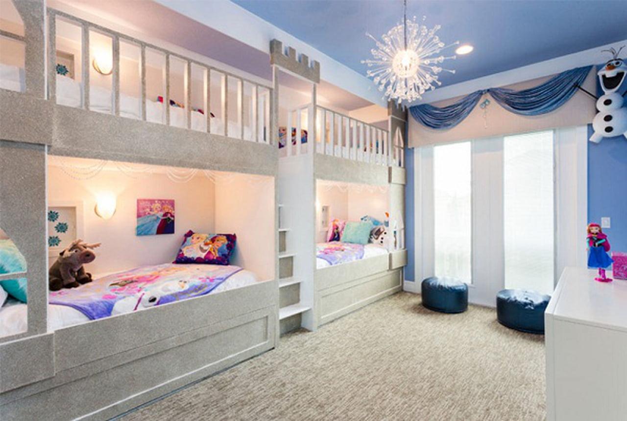 صورة غرف نوم ثلاث بنات , ديكورات مميزه تناسب كافه المساحات والاذواق