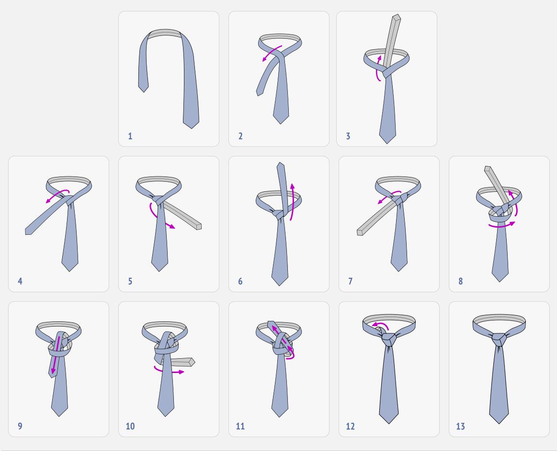 صورة كيفية ربط ربطة العنق 4763
