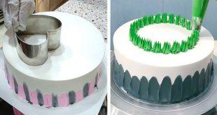 طريقة تزيين الكيك بالكريمه